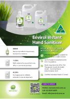 Envirol Hand Sanitiser – Flyer